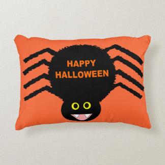 Almofada Decorativa Travesseiro preto da aranha do Dia das Bruxas