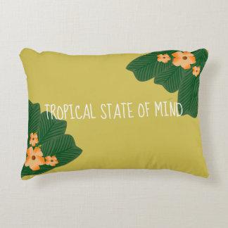 Almofada Decorativa Travesseiro tropical do estado de ânimo