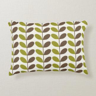 Almofada Decorativa Travesseiros verdes do acento do teste padrão da