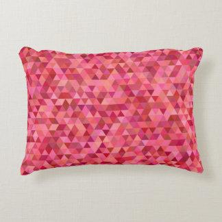 Almofada Decorativa Triângulos cor-de-rosa