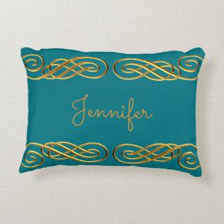 Almofada Decorativa Turquesa & travesseiro decorativo personalizado