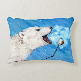 Almofada Decorativa Urso polar com Marshmallow brindado