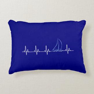 Almofada Decorativa Veleiro engraçado da pulsação do coração da