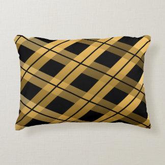 Almofada Decorativa Xadrez da diagonal do ouro