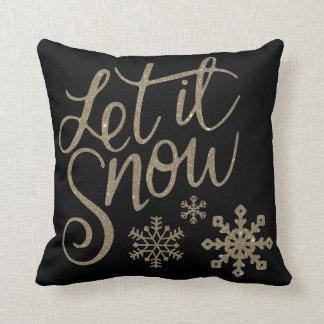 Almofada Decorativo deixe-o nevar o Natal de cristal do