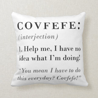 Almofada Definição de Covfefe