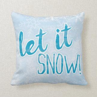 """Almofada Deixais lhe para nevar travesseiro 16"""" do floco de"""