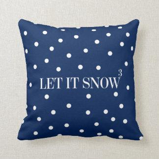 Almofada Deixais lhe para nevar travesseiro decorativo do