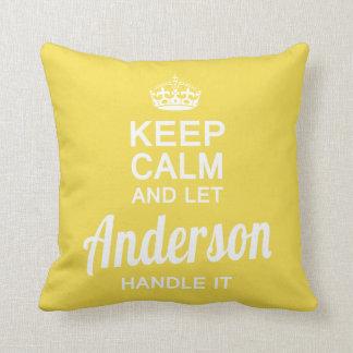 Almofada Deixe Anderson segurá-lo