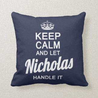 Almofada Deixe Nicholas segurá-lo!
