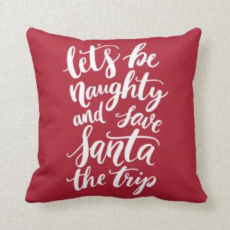 Almofada Deixe-nos ser mão impertinente feriado engraçado