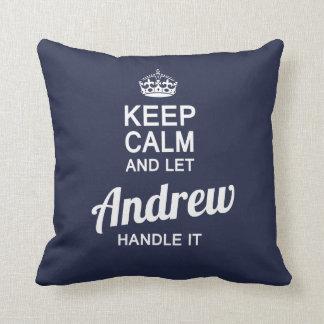 Almofada Deixe o Andrew segurá-lo!