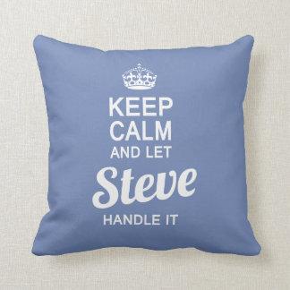 Almofada Deixe Steve segurá-lo!