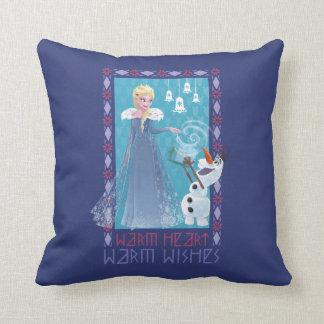Almofada Desejos mornos do coração morno de Elsa & de Olaf