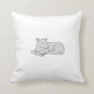 Almofada Desenho do sono do cordeiro