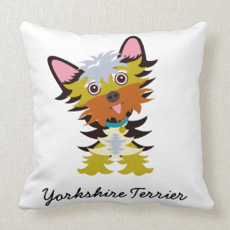 Almofada Desenhos animados adoráveis do yorkshire terrier