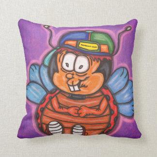 Almofada desenhos animados do menino do joaninha