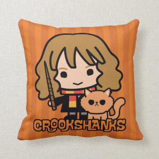 Almofada Desenhos animados Hermione e Crookshanks