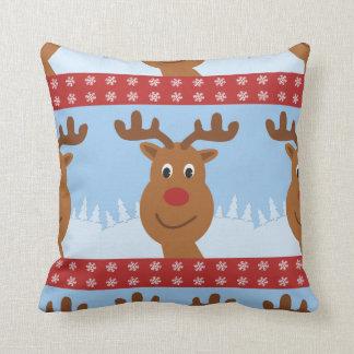 Almofada Desenhos animados Rudolph o vermelho reversível da