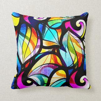 Almofada Design abstrato colorido do vidro colorido