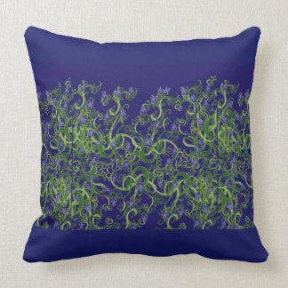 Almofada Design azul do lance da alga