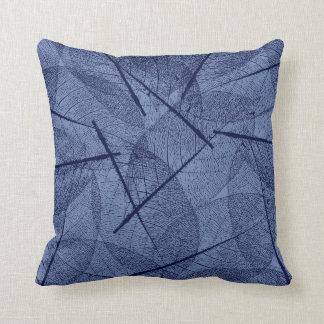 Almofada Design azul escuro da folha da veia