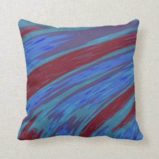 Almofada Design azul moderno do abstrato da cor vermelha
