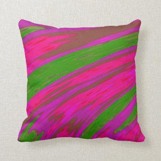 Almofada Design brilhante do abstrato da cor cor-de-rosa e