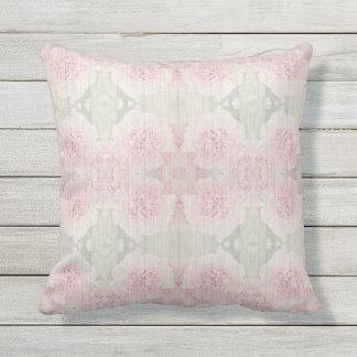 Almofada Design chique do país cor-de-rosa e cinzento