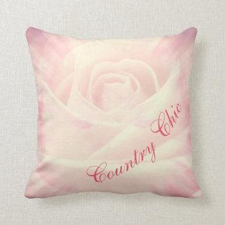 Almofada Design chique do país rosa pálido bonito dos rosas