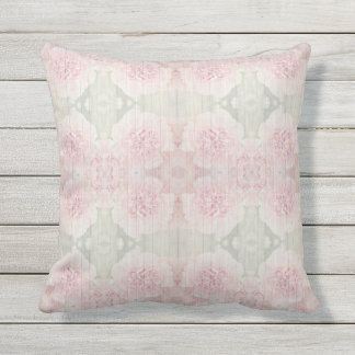 Almofada Design chique do rosa e do país cinzento cinzento