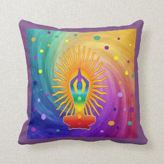 Almofada DESIGN COLORIDO Chanting da mantra da meditação do