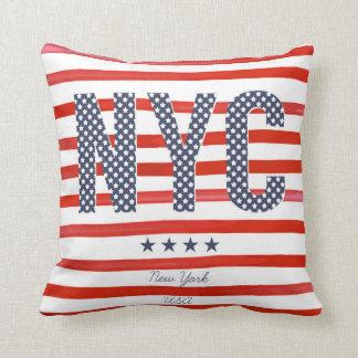 Almofada Design do vermelho de NYC |, o branco & o azul