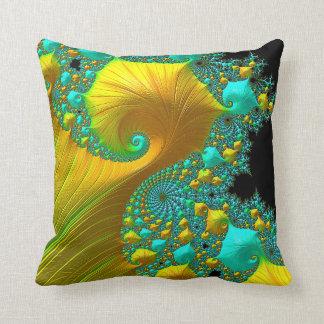 Almofada Design dourado da sala de visitas do coxim do cone