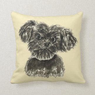 Almofada Design engraçado bonito do cão do Watercolour do