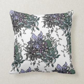 Almofada Design floral corajoso com linhas pretas