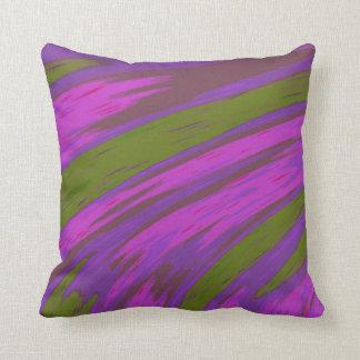 Almofada Design moderno do abstrato da cor roxa e verde