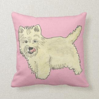 Almofada Design ocidental bonito da pintura da arte do cão