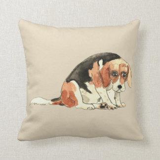 Almofada Design triste bonito engraçado da arte do cão do