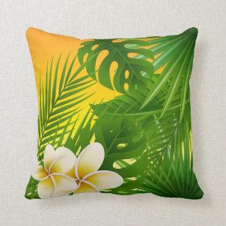 Almofada Design tropical da luz do sol da selva