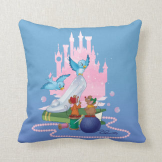 Almofada Deslizador e ratos de vidro de Cinderella |