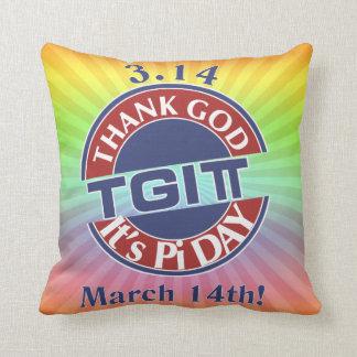 Almofada Deus do obrigado de TGIPi seu dia logotipo