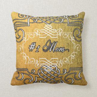Almofada Dia das mães extravagante do ouro da mamã #1