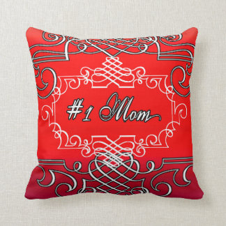 Almofada Dia das mães vermelho da tipografia da mamã #1