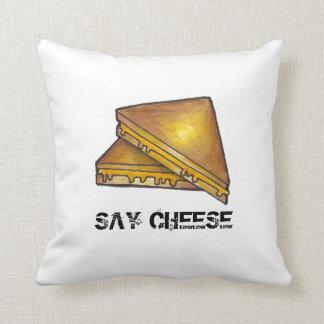 Almofada Diga o travesseiro brindado grelhado queijo do