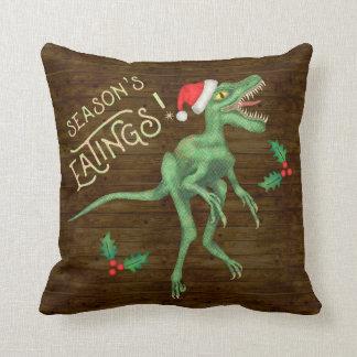 Almofada Dinossauro engraçado Eatings do Velociraptor do