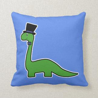 Almofada Dinossauro verde bonito e extravagante com chapéu