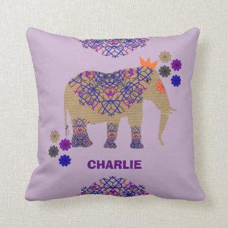 Almofada Divertimento irrisório bonito decorado do elefante