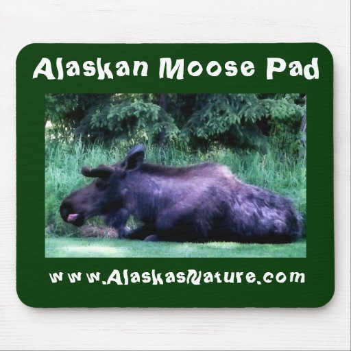 Almofada do Alasca dos alces do verão Mouse Pad