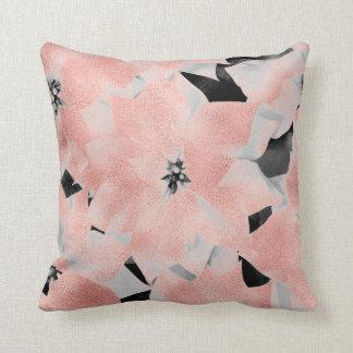 Almofada Do preto cor-de-rosa do rosa do ouro do encanto